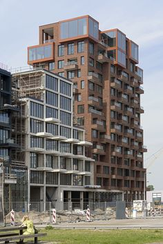 residential — Marcel van der Burg Social Housing Architecture, Brick Architecture, High Rise Building, City Buildings, Condominium, Urban Design, Amsterdam, Facade, Skyscraper