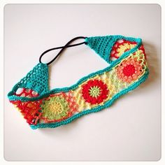 Tropical color motif tie hair band