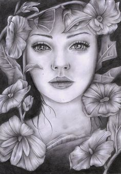 Flower woman by ilikeyourdad on DeviantArt