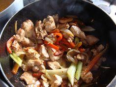 LuqueComemosEnCasa: Pollo con Vegetales y Vino Blanco