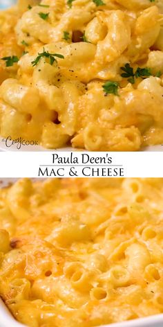 This Paula Deen classic can be baked in the oven, the Crock Pot, or on the stovetop! A perfect side dish idea for pot lucks or feeding a crowd. dinner ideas sides comfort foods Paula Deen's Mac and Cheese Mac And Cheese Rezept, Vegan Mac And Cheese, Best Macaroni And Cheese, Macaroni Cheese Recipes, Mac And Cheese Homemade, Baked Mac And Cheese Recipe With Cream Cheese, Mac And Cheese Recipe Using Cream Cheese, Creamy Mac And Cheese Recipe Velveeta, Appetizers With Cream Cheese