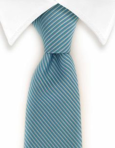 Light Blue Pinstriped Necktie