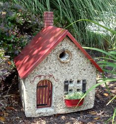 Piccadilly Place - Stone Garden Art - Stone Cottage from the little white barn co. $149.00, via Etsy.