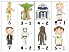 Math Match Addition Sentences - Star Wars