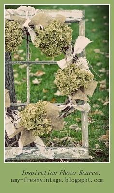 Vintage Show Off: Free Booth Decor - Dried Hydrangea Ideas