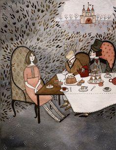 La fiesta loca del té por  Yelena Bryksenkova