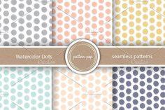 Watercolor Dots Seamless Patterns. Patterns. $5.00