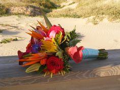 My Bouquet <3, tropical bouquet, beach wedding, beach bouquet