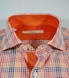 15442971a2cf4f Ingram slim fit shirt orange scotland size 41 L T Shirt, Shirt Dress, Polo  Sweater