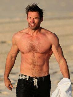 Wooohoo ! Hugh Jackman shirtless ! *