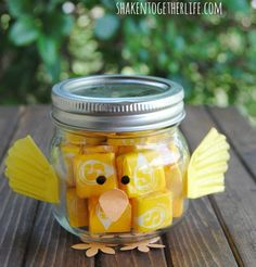 Mason Jar Easter Chick