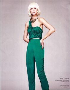 Loving this! Very 70's but who doesn't love the 70's?! #pantssuit #fashion #style #70s