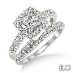 Your wedding engagement ring set with brilliant white diamonds.  Marshall Jewelry