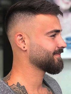 Short High Taper Fade With Beard, Skin Fade Trimmed Beard Styles, Faded Beard Styles, Beard Styles For Men, Hair And Beard Styles, Short Hair Styles, Plait Styles, Medium Beard Styles, Mens High Fade Haircut, Medium Fade Haircut