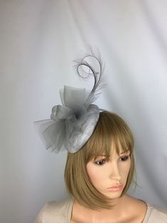 Excited to share this item from my shop: Silver Fascinator Grey Fascinator Wedding Hatinator Mother of the Bride Occasion Hat Races Day Fascinator Gray Hatinator Ascot Grey Hair Fascinator, Fascinator Hats, Fascinators, Ascot Ladies Day, Occasion Hats, Silver Grey Hair, Thing 1, Wedding Hats, Ostrich Feathers
