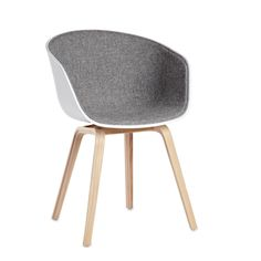 This curvy version of About a Chair is designed to be supportive, so you can just sit back and let the chair do the work.