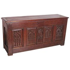 Antique Gothic Trunk from France   From a unique collection of antique and modern blanket chests at https://www.1stdibs.com/furniture/storage-case-pieces/blanket-chests/