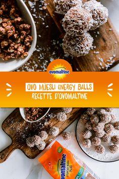 Tu es toujours à la recherche d'un petit chocolat extravagant pour accompagner le café? Alors nous avons la recette qu'il te faut: les petites Müesli Energy Balls à l'Ovomaltine! Les délicieuses petites boules de noix de coco combinées avec l'Ovo Müesli Plus sont ultra croquantes et font de l'ombre à chaque Raffaello. Happy Kitchen, Snack Recipes, Snacks, Energy Balls, Herbalife, Biscuits, Paleo, Sweets, Baking