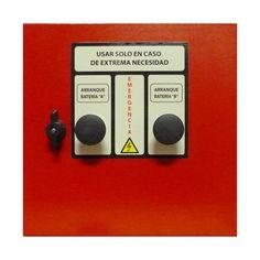 Cuadro eléctrico contra incendios para bomba principal con motor diésel, (cofre de emergencia) www.ceymacym.com