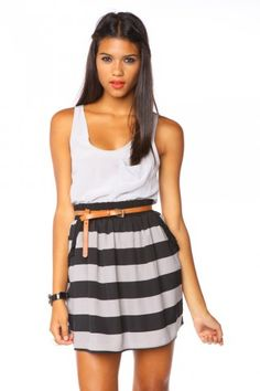 Frilled Striped Skirt $38