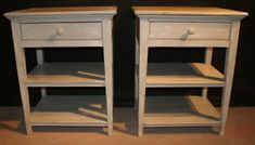 Pair of custom built painted bedside tables.  These can be made to your specification and colour.