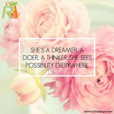 """""""She's a dreamer, a doer, a thinker. She sees possibility everywhere. Wish Quotes, Happy Quotes, Quotes To Live By, Me Quotes, Star Quotes, Dreamer Quotes, Spirit Quotes, Never Stop Dreaming, Just Dream"""