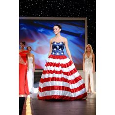 Meet the New Miss Virginia ❤ liked on Polyvore featuring gown
