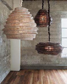 Image of Bamboo Cumulus Cloud Pendant Lamp Plywood Furniture, Bamboo Light, Bamboo Lamps, Traditional Pendant Lighting, Dining Light Fixtures, Home Decor Dyi, Modern Lighting Design, Rustic Lamps, Living Room Lighting
