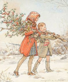 Time to break out all the old li'l children's christmas storybooks, the ones with the songs in the back. DECK THE HALLS.