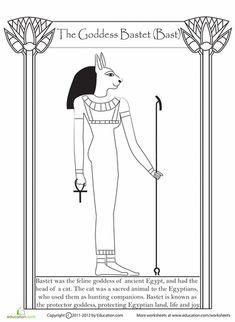 Worksheets: Egyptian Goddess Bastet