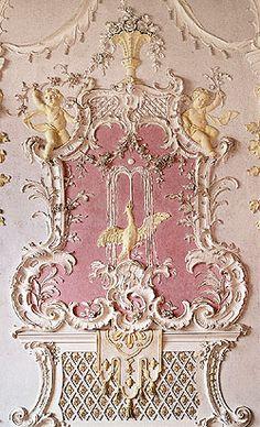 decorative plaster work ~ Schleißheim New Palace (Northern Garden Hall).  it was designed in 1764 and was the summer palace of rulers of Bavaria.   [http://www.schloesser-schleissheim.de/englisch/n_palace/raum29.htm]