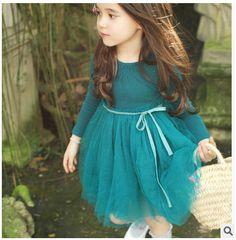 Girls Children's Clothing Autumn Fashionable Gauze Dress | Import-express.com