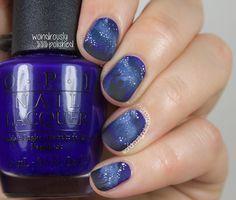 The Digital Dozen does Summer - Day 1: Stargazing Nail Art