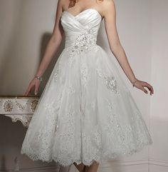 Reception wedding dress.