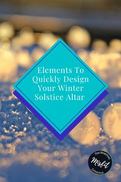 Are you looking for some ideas for your winter solstice altar? I have got your ideas right here! Here is your winter solstice altar checklist that can be done in less than 30 minutes! That way you can spend more time doing Yule-esq activities! Here is another great tradition to signify the start of winter!