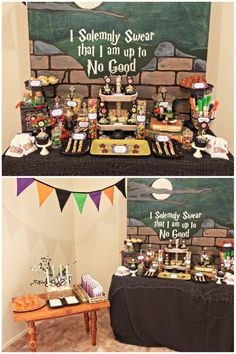 Potter Frenchy Party - Une fête chez Harry Potter: Inspiration : buffet d'anniversaire Harry Potter
