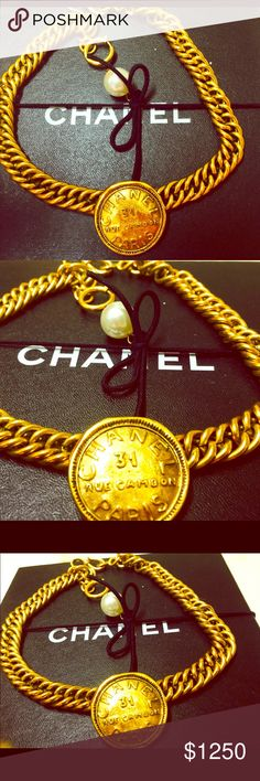 Chanel 31 Rue Cambon Paris Statement Necklace🌹🌹 Authentic 💯 % Guaranteed is this Lovely Beauty Chanel 31 Rue Cambon Paris Statement Necklace solid yellow gold plated/ filled, designed with an exquisite high end sophisticated style designated to make a Statement everywhere you go. Great addition to your collectibles & smart investment 💝💝💝💝💝💝💝💝💝💝💝💝💝 CHANEL Jewelry Necklaces