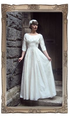 Vintage 1960's White organza wedding dress with by HayworthVintage, €220.00