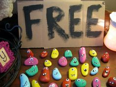 I like this idea as favors but maybe a spin on the pet rock idea OR WORRY STONES! Hostess with the Mostess® - oh happy day!