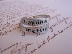 Hakuna matata ring Disney Personalized ring door giftforbestfriends, $10.00