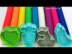 Learn Colors Play Doh Modelling Clay Fruit & Vegetable Molds Surprise Toys Ooshies Disney Pixar Cars - YouTube