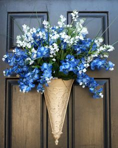 Bluebonnet Front Door Decoration