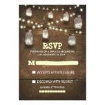 rustic mason jars and light #wedding RSVP cards