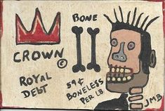 #ad Vintage Jean-Michele Basquiat NYC Street Art Postcard Painting  BONE http://rover.ebay.com/rover/1/711-53200-19255-0/1?ff3=2&toolid=10039&campid=5337950191&item=273139894899&vectorid=229466&lgeo=1