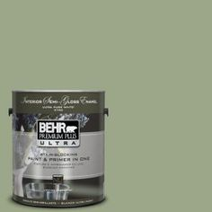 BEHR Premium Plus Ultra 1-Gal. #PPU11-7 Clary Sage Semi-Gloss Enamel Interior Paint-375401 at The Home Depot