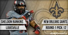 With the 12th pick in the 2016 NFL Draft, theNew Orleans Saints select Sheldon Rankins #NFLDraft #Saints #Louisville