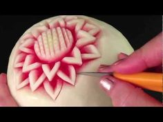 Simple Watermelon Flower - Intermediate 1 - by Mutita Art of Fruit & Vegetable Carving