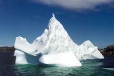 Icebergs are often seen, especially in June and early July, on the ferry crossing between Newfoundland and Labrador..