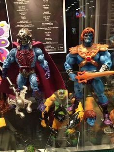 Soon to be released Classics - New Adventures Skeletor and battle damaged Faker!