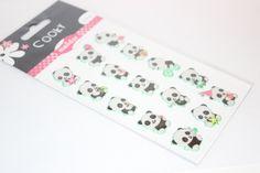 Sticker  Cooky Panda von Perlenblitz auf DaWanda.com